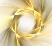 Abstrakcjonistyczny biały tło z złotym koła lub wianku wzorem, f ilustracja wektor