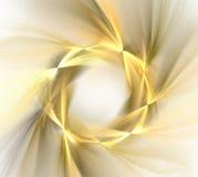 Abstrakcjonistyczny biały tło z złotym pierścionku lub wianku wzorem, fr royalty ilustracja