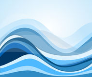 Abstrakcjonistyczny bieżący wodnej fala tła projekta element Fotografia Stock