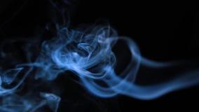 Abstrakcjonistyczny bielu dym na czarnym tle, dymny tło, błękita dymny tło zdjęcie wideo