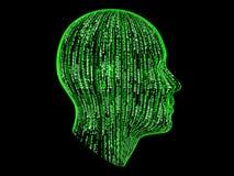abstrakcjonistyczny binary Obraz Royalty Free