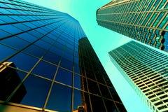 Abstrakcjonistyczny biznesowego biura drapacz chmur Fotografia Royalty Free