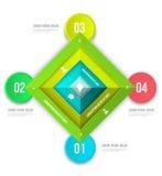 Abstrakcjonistyczny biznesowy infographics opcj szablon Zdjęcie Stock