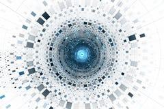 Abstrakcjonistyczny biznesowy nauki lub technologii tło royalty ilustracja