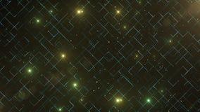 Abstrakcjonistyczny biznesowy nauki lub technologii tło z pustą przestrzenią dla teksta kosmos kopii z bliska Kolorowi blicks dal ilustracji