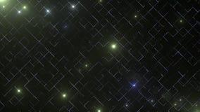 Abstrakcjonistyczny biznesowy nauki lub technologii tło z pustą przestrzenią dla teksta kosmos kopii z bliska Kolorowi blicks dal royalty ilustracja