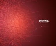 Abstrakcjonistyczny biznesowy nauki lub technologii złota tło Sieć projekt wektor Obrazy Royalty Free