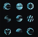 abstrakcjonistyczny biznesowy pojęcia loga setu wektor Zdjęcie Royalty Free