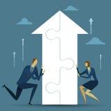 Abstrakcjonistyczny biznesowy pojęcie sukces Obraz Stock