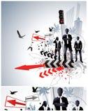abstrakcjonistyczny biznesowy projekt Zdjęcia Stock