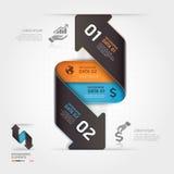 Abstrakcjonistyczny biznesowy strzałkowaty infographics szablon. Obraz Royalty Free