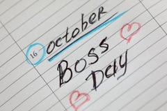 Abstrakcjonistyczny biznesowy szablon z szefa dniem zdjęcie royalty free