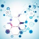Abstrakcjonistyczny biznesowy tło z technologicznymi elementami Zdjęcia Stock