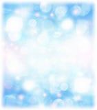 Abstrakcjonistyczny błękitny wakacyjny tło Zdjęcia Royalty Free