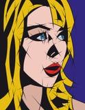 abstrakcjonistyczny blond dziewczyny włosy portret Obraz Stock