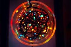 abstrakcjonistyczny bożonarodzeniowe światła Zdjęcie Royalty Free