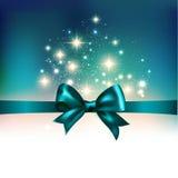 Abstrakcjonistyczny bożonarodzeniowe światła tło z faborkiem Zdjęcie Stock