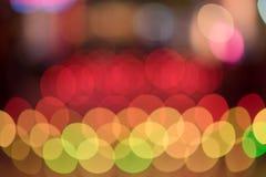 Abstrakcjonistyczny bokeh światła tło kolorowy Obrazy Stock