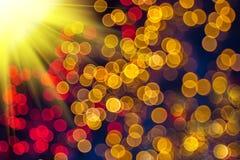 Abstrakcjonistyczny bokeh i światło słoneczne Obrazy Royalty Free