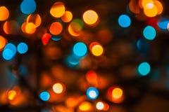 Abstrakcjonistyczny bokeh latarnie uliczne Zdjęcie Royalty Free
