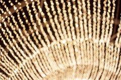 Abstrakcjonistyczny bokeh lekki złoty okrąg zdjęcia royalty free