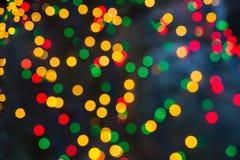 Abstrakcjonistyczny bokeh tło Christmaslight Zdjęcia Stock