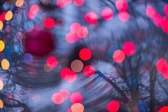Abstrakcjonistyczny bokeh tło Christmaslight Obrazy Stock