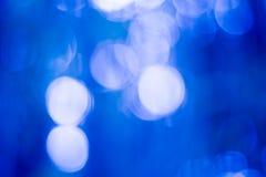 Abstrakcjonistyczny bokhe na błękitnym tle Zdjęcie Stock