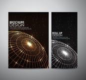 Abstrakcjonistyczny broszurka biznesowego projekta szablon lub stacza się up Zdjęcie Royalty Free