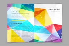 Abstrakcjonistyczny broszurki lub ulotki projekta templatee Fotografia Royalty Free