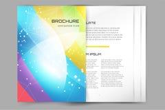 Abstrakcjonistyczny broszurki lub ulotki projekta templatee Zdjęcie Stock
