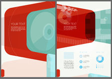 Abstrakcjonistyczny broszurki ulotki projekt Obraz Royalty Free