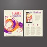 Abstrakcjonistyczny broszurki ulotki projekta wektoru szablon Zdjęcie Stock