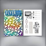 Abstrakcjonistyczny broszurki ulotki projekta wektoru szablon Obrazy Royalty Free