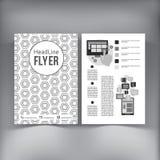 Abstrakcjonistyczny broszurki ulotki projekta wektoru szablon Fotografia Royalty Free