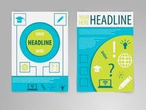 Abstrakcjonistyczny broszurki ulotki szablon w A4 rozmiarze ilustracji