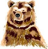 Abstrakcjonistyczny Brown niedźwiedź Zdjęcia Royalty Free