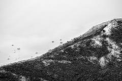 Abstrakcjonistyczny brzeg rzeki obrazy stock