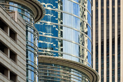abstrakcjonistyczny budynków śródmieścia biuro Fotografia Royalty Free