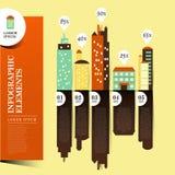 Abstrakcjonistyczny budynku infographics Fotografia Royalty Free