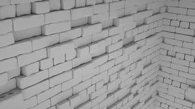 Abstrakcjonistyczny cegły tło, 3 d odpłaca się obraz royalty free