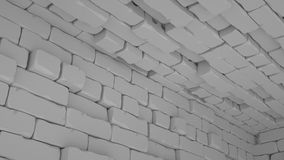 Abstrakcjonistyczny cegły tło, 3 d odpłaca się fotografia royalty free