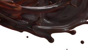 Abstrakcjonistyczny chocolatte pluśnięcie na białym tle ilustracja wektor