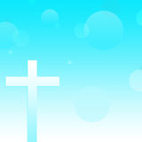 Abstrakcjonistyczny chrześcijanina krzyża tło Zdjęcia Stock