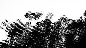 Abstrakcjonistyczny cień na wodzie fotografia royalty free