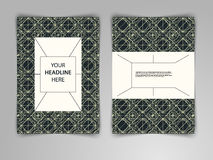 Abstrakcjonistyczny ciemny geometryczny projekt z przetykaniem cienkie linie Fotografia Royalty Free