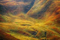 Abstrakcjonistyczny colorfull zbocze góry Zdjęcia Royalty Free