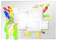 abstrakcjonistyczny colour ilustracja wektor