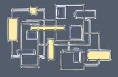 Abstrakcjonistyczny colour planu wizerunek - kolor żółty royalty ilustracja