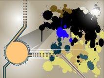 Abstrakcjonistyczny Colour pluśnięcia tło ilustracja wektor